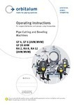Orbitalum Pipe Cutting & Beveling Machines Manual